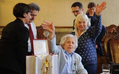 Il ringraziamento di Aldina Balboni al Nettuno d'oro